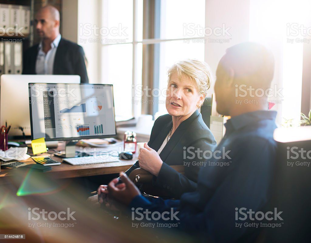 Coooperation Corporate Archievement Teamwork Concept stock photo