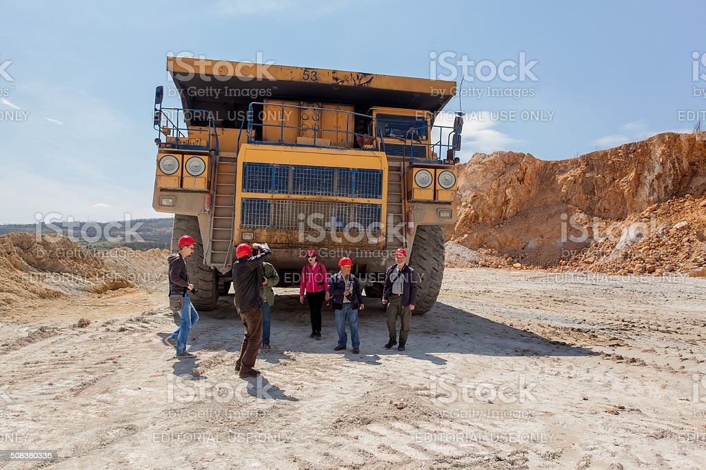 Cooper mine - Open pit 9 stock photo