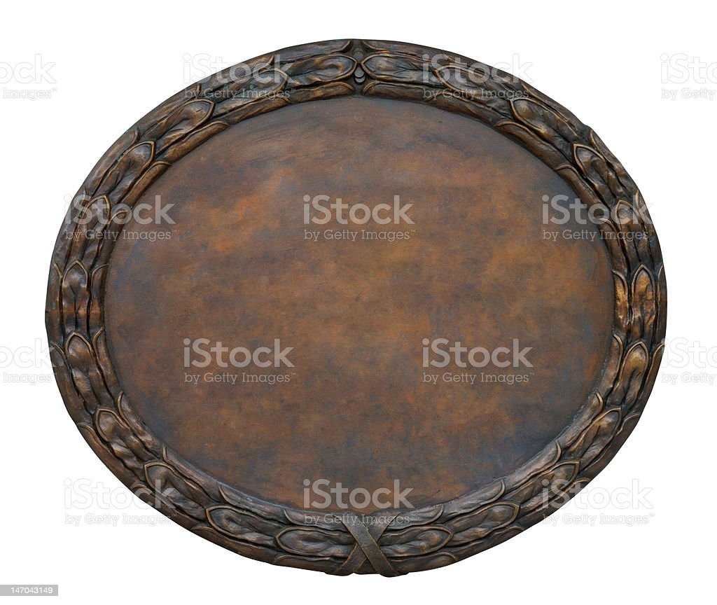 Cooper Plate royalty-free stock photo