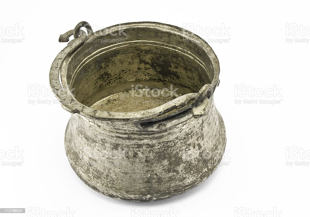 Cooper pot - hand made royalty-free stock photo