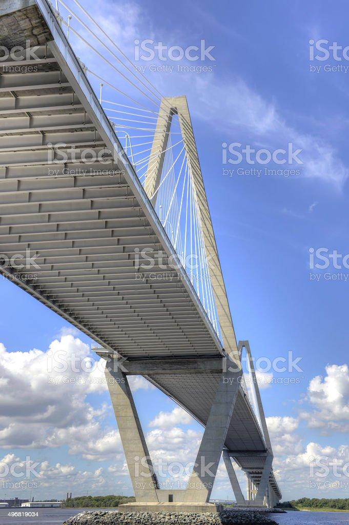 Cooper River Bridge Charleston 2 stock photo