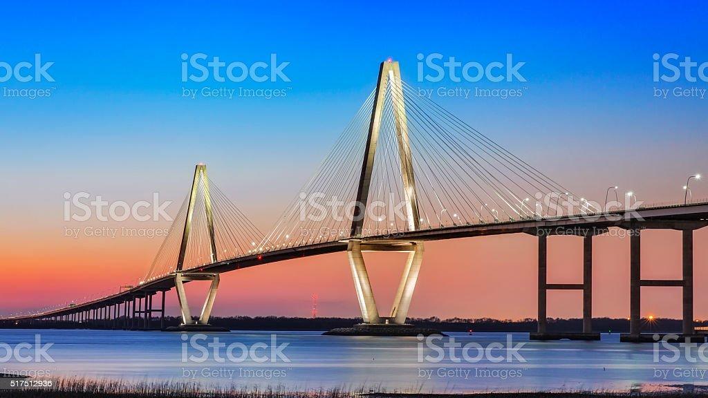 Cooper River Bridge - Charleston stock photo