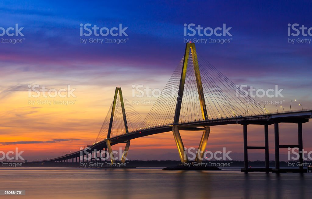 Cooper River Bridge - Charleston stock photo