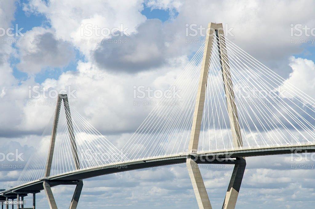 Cooper River Bridge, Charleston, South Carolina stock photo