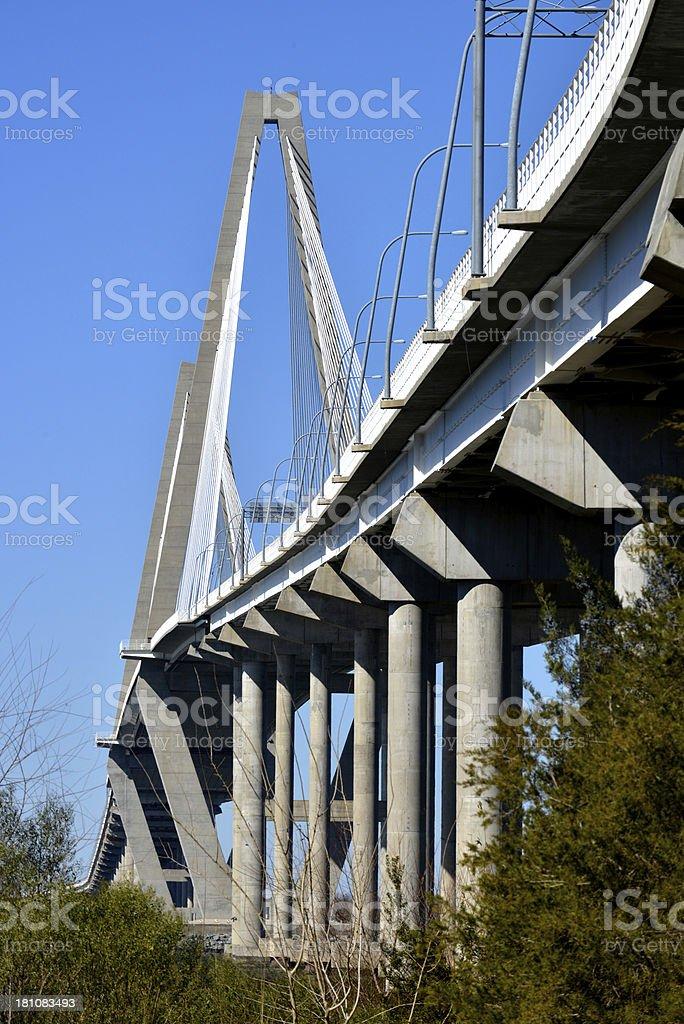 Cooper River Bridge in Charleston, South Carolina stock photo