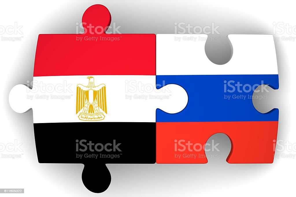 Cooperation between the Russian Federation and Egypt. Concept stock photo