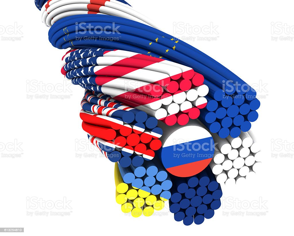 Cooperation of States. Concept stock photo
