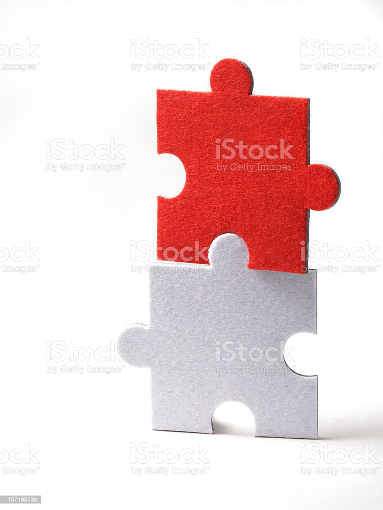 Cooperation Puzzle royalty-free stock photo