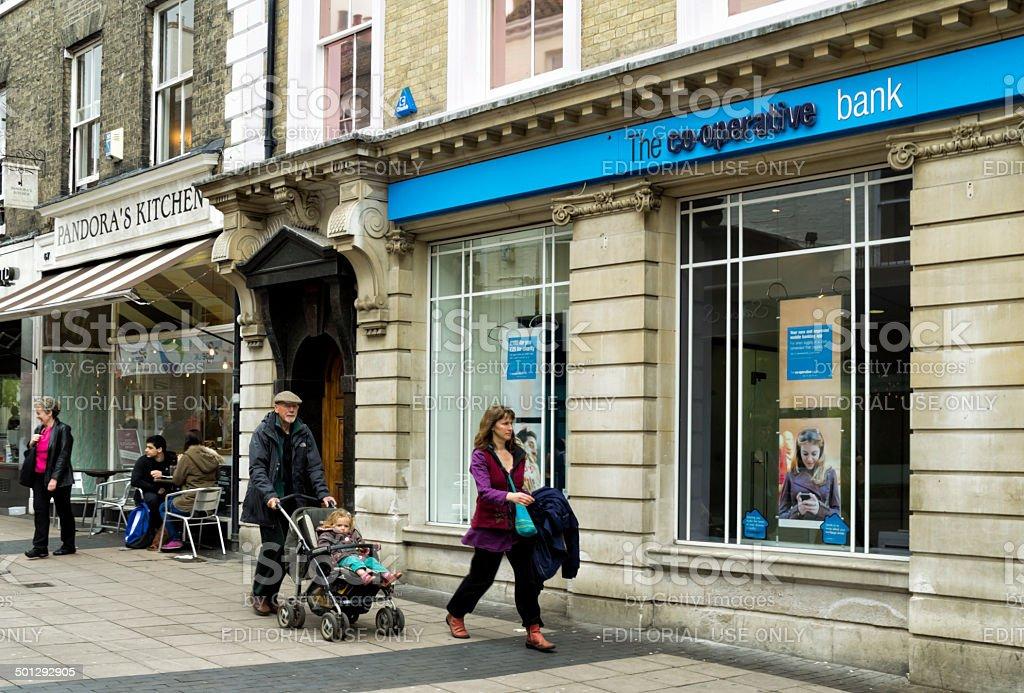 Co-operative Bank, London Street, Norwich stock photo