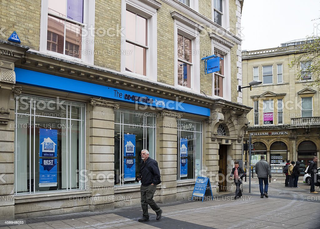 Co-operative Bank, Norwich stock photo