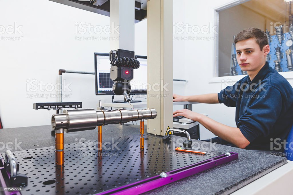 Coordinate Measuring Machine stock photo