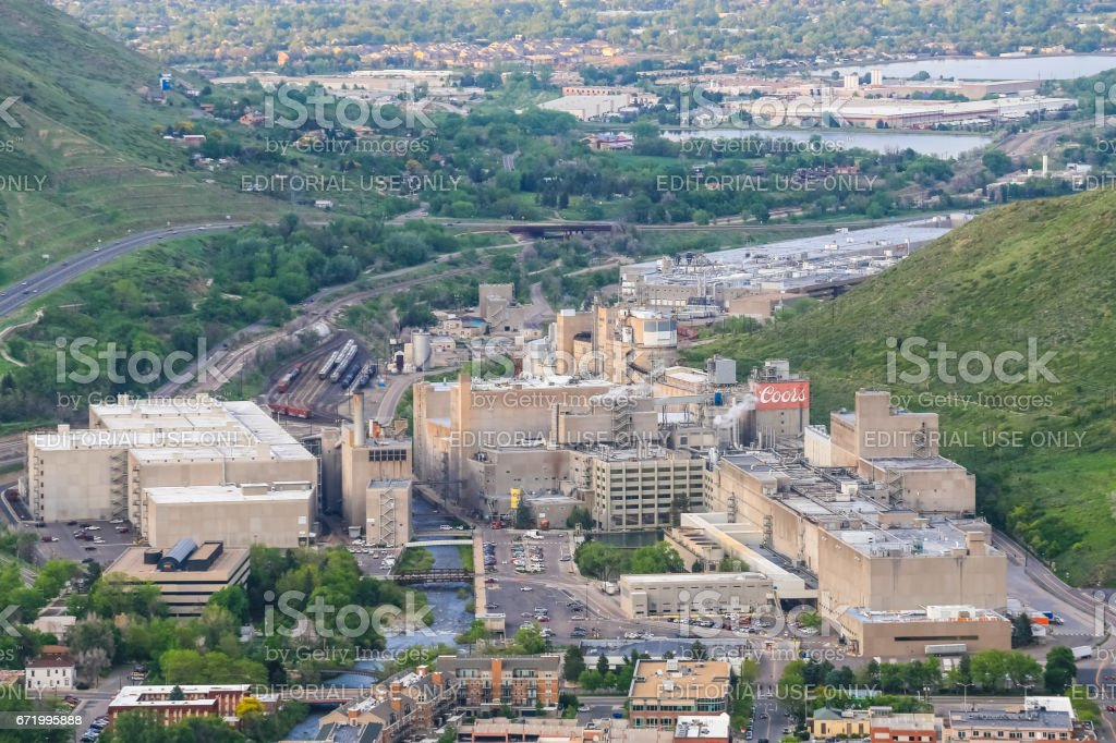 Coors Brewery in Golden stock photo