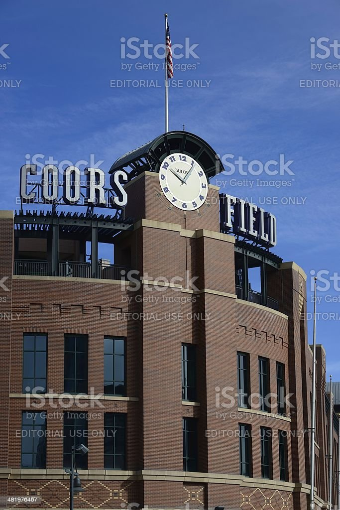 Coors Field royalty-free stock photo