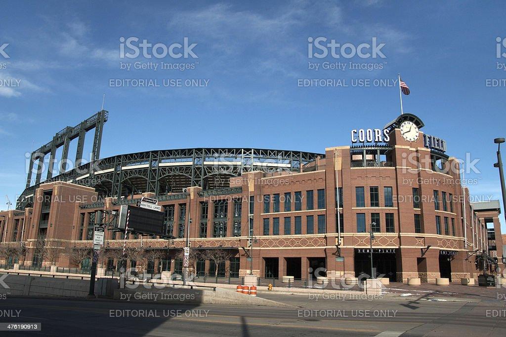 Coors Field stadium in Denver Colorado horizontal stock photo