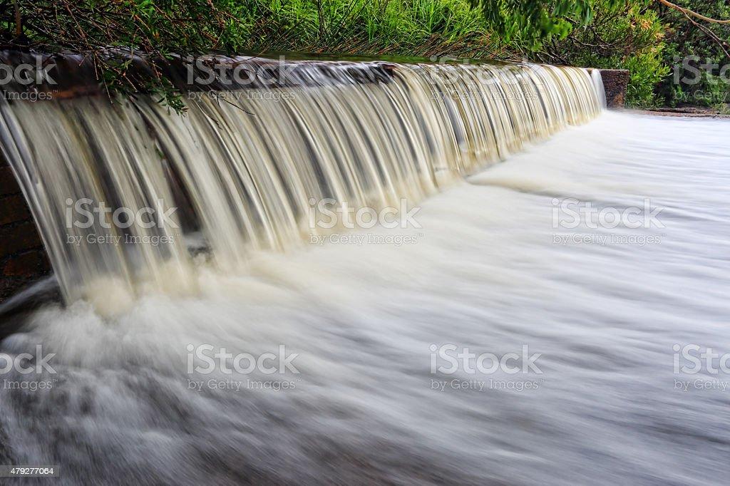 Coote Creek weir Wattamolla stock photo