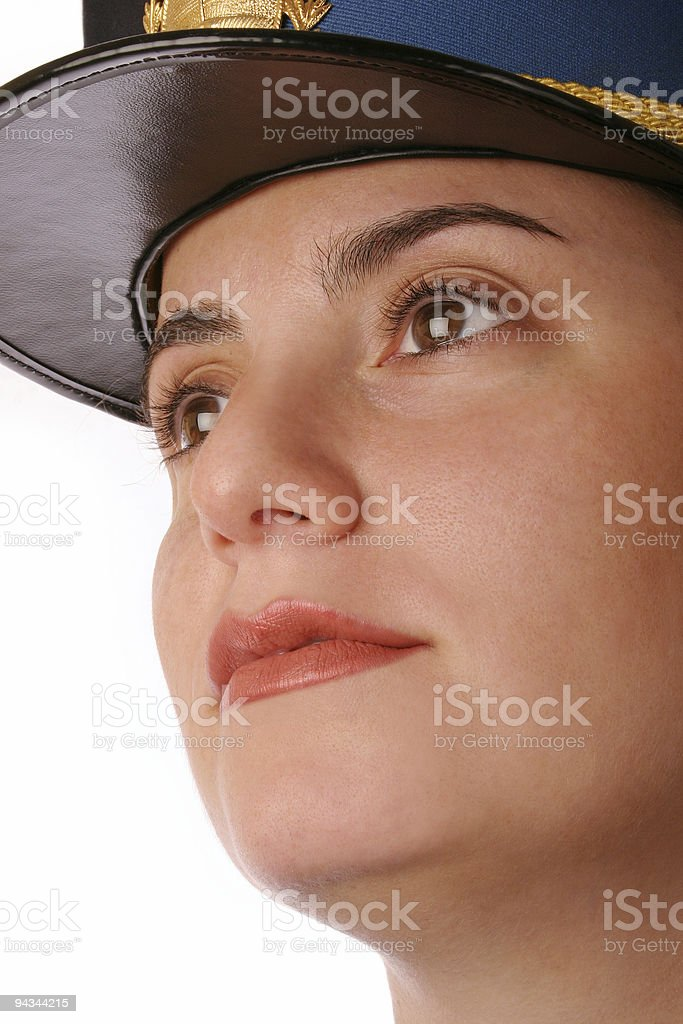 Cop female looking 1 royalty-free stock photo