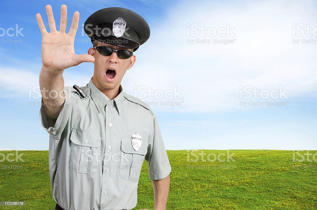 Cop Halt royalty-free stock photo
