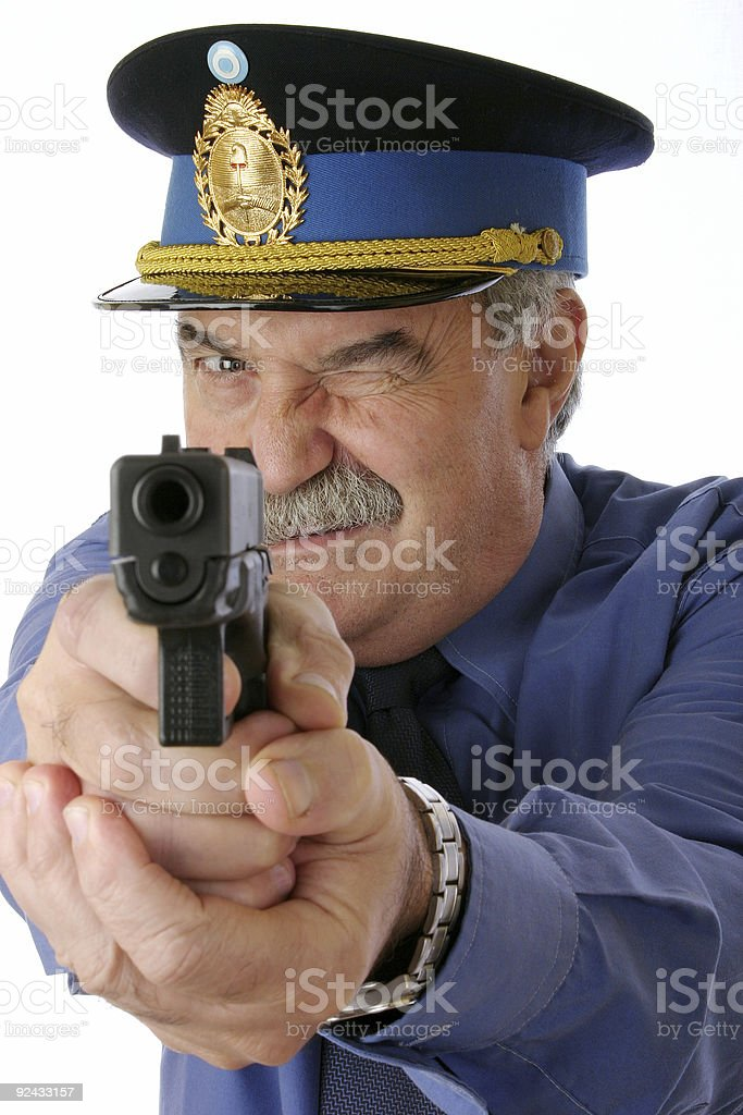 Cop is shooting you 1 royalty-free stock photo