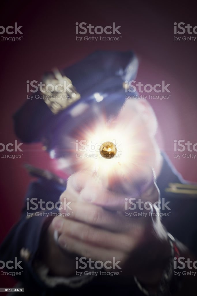 Cop Shot stock photo