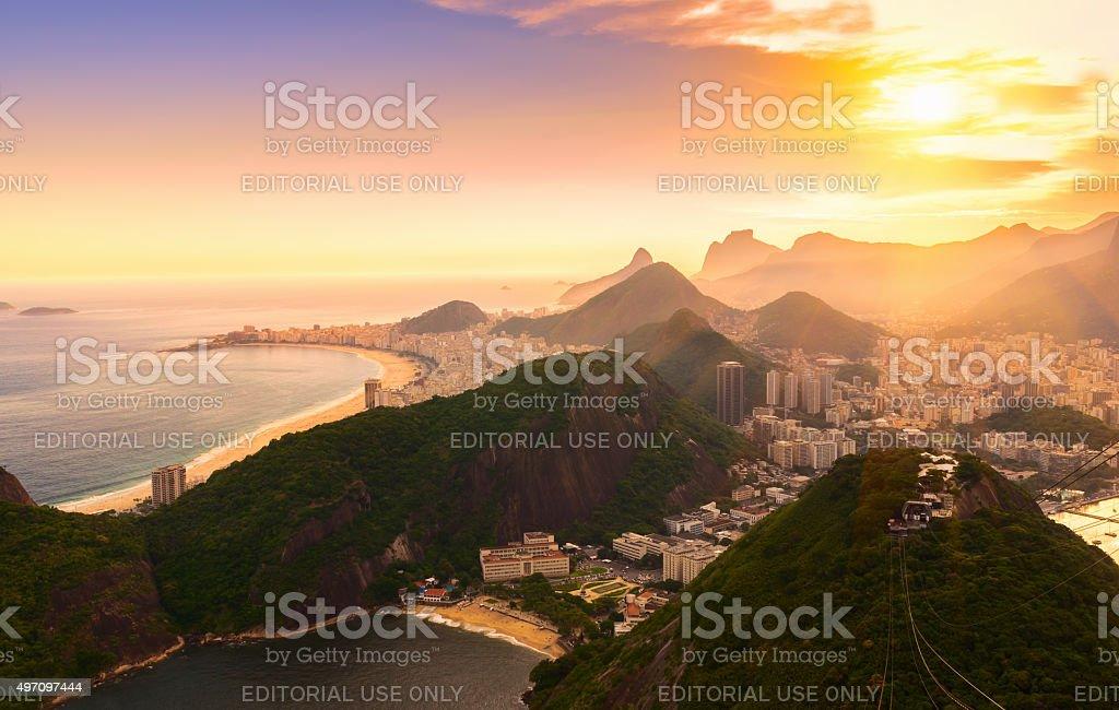 Copacabana and Botafogo in Rio de Janeiro. Brazil stock photo