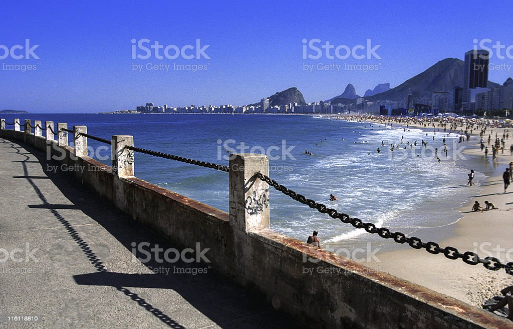 Copacabana and Leme Beach royalty-free stock photo
