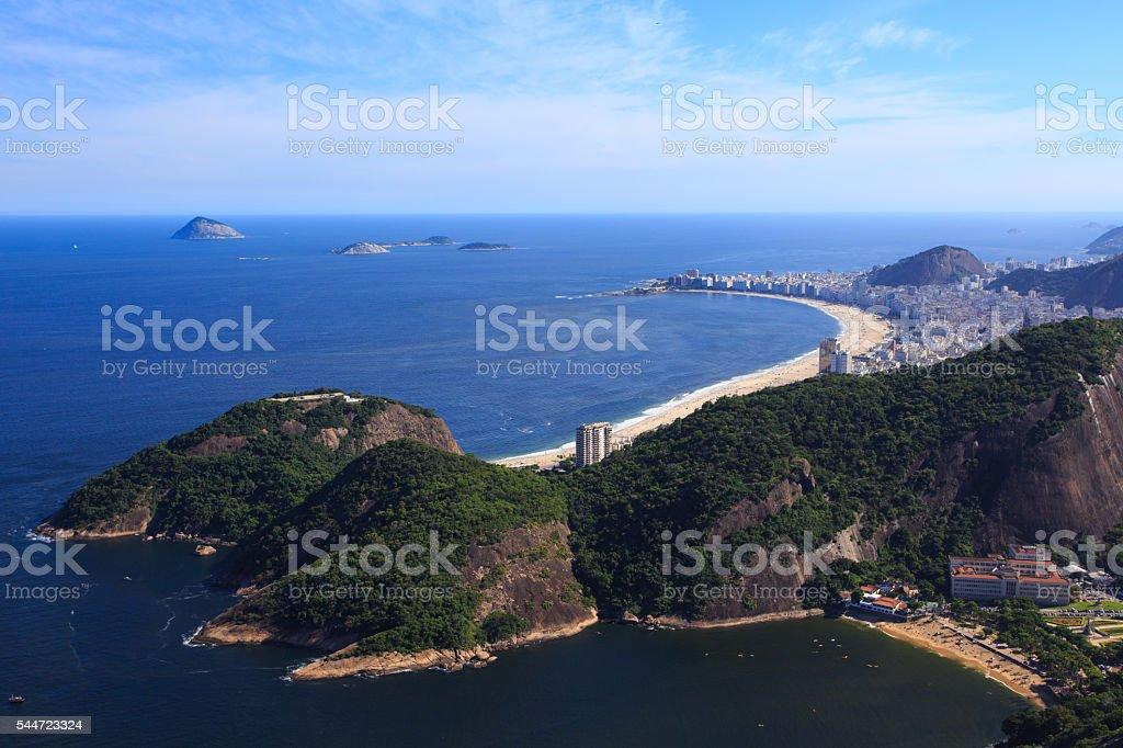 Copacabana beach aerial view stock photo