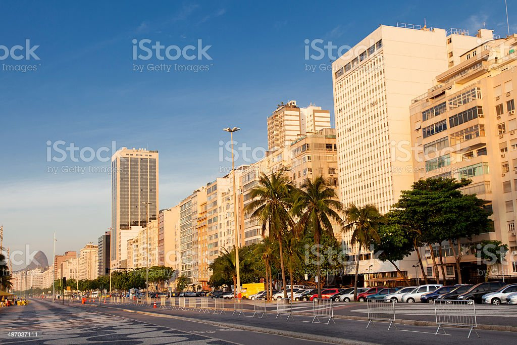 Copacabana Beach early morning royalty-free stock photo
