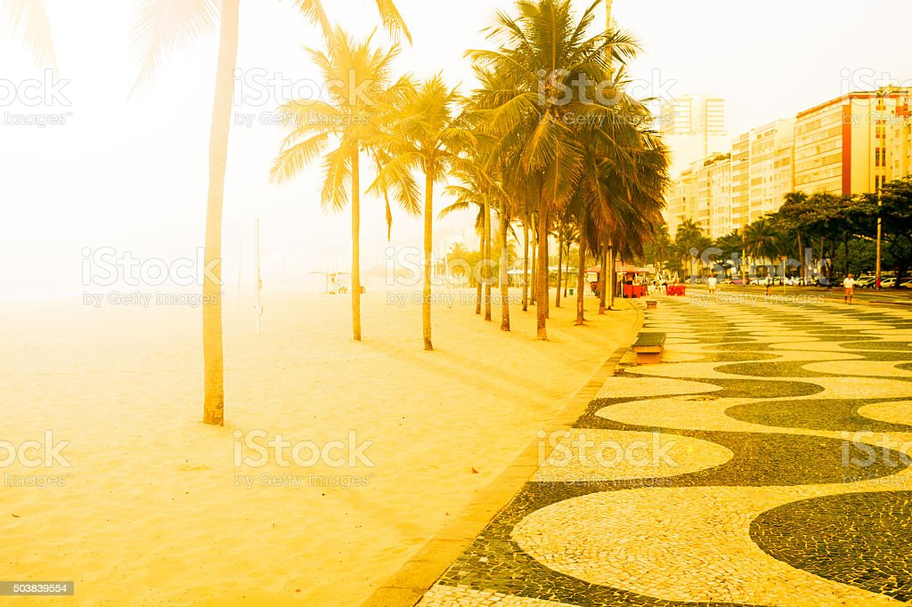 Copacabana Beach early morning stock photo