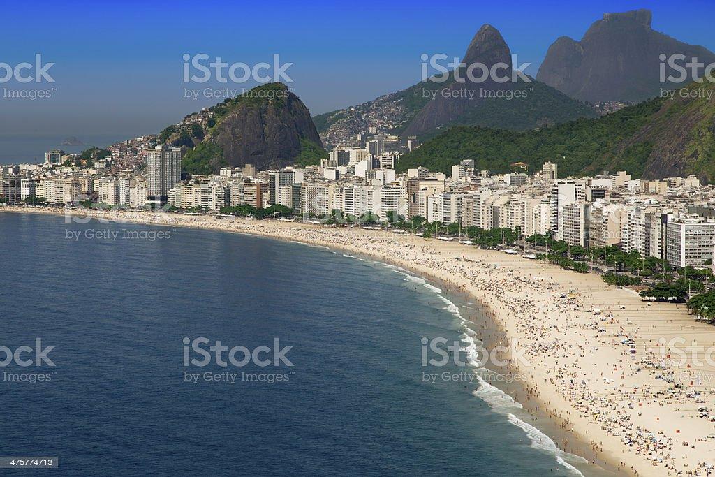 Copacabana Beach in Rio de Janeiro royalty-free stock photo