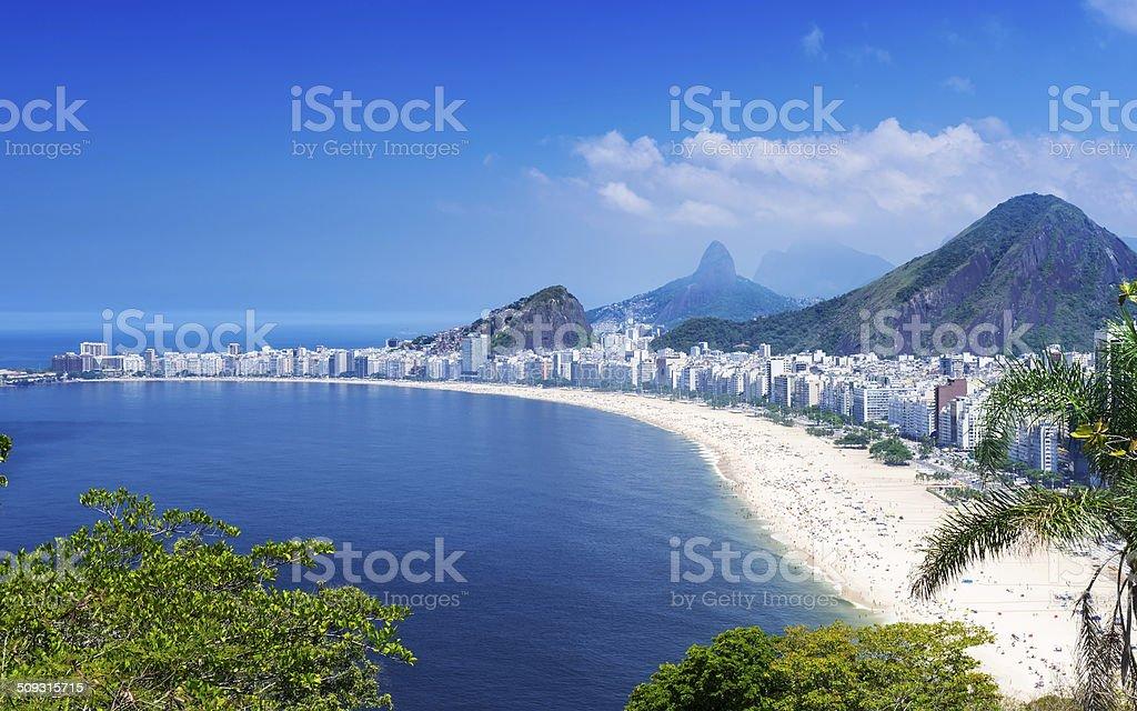 Copacabana beach in Rio de Janeiro stock photo