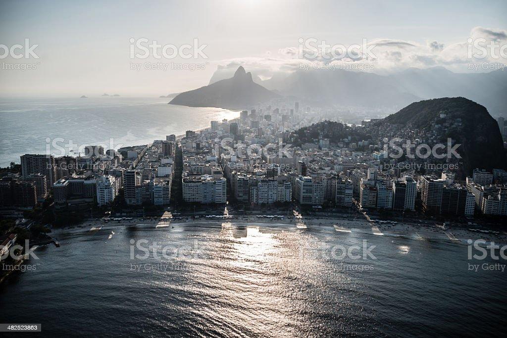 Copacabana Beach in Rio royalty-free stock photo