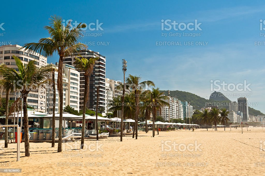 Copacabana Beach in the Morning stock photo