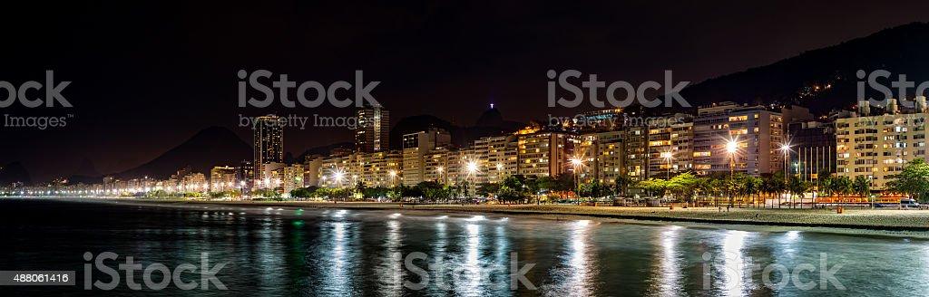 Copacabana Beach panorama stock photo