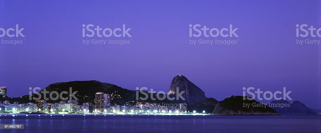 Copacabana Beach - panoramic photo royalty-free stock photo