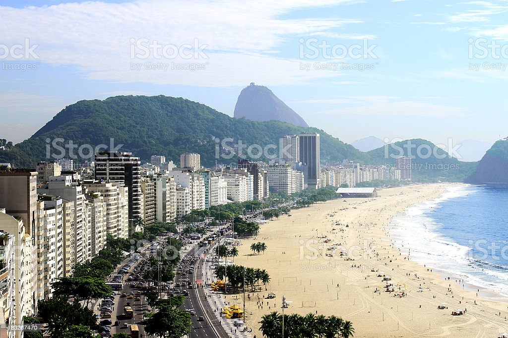Copacabana beach stock photo