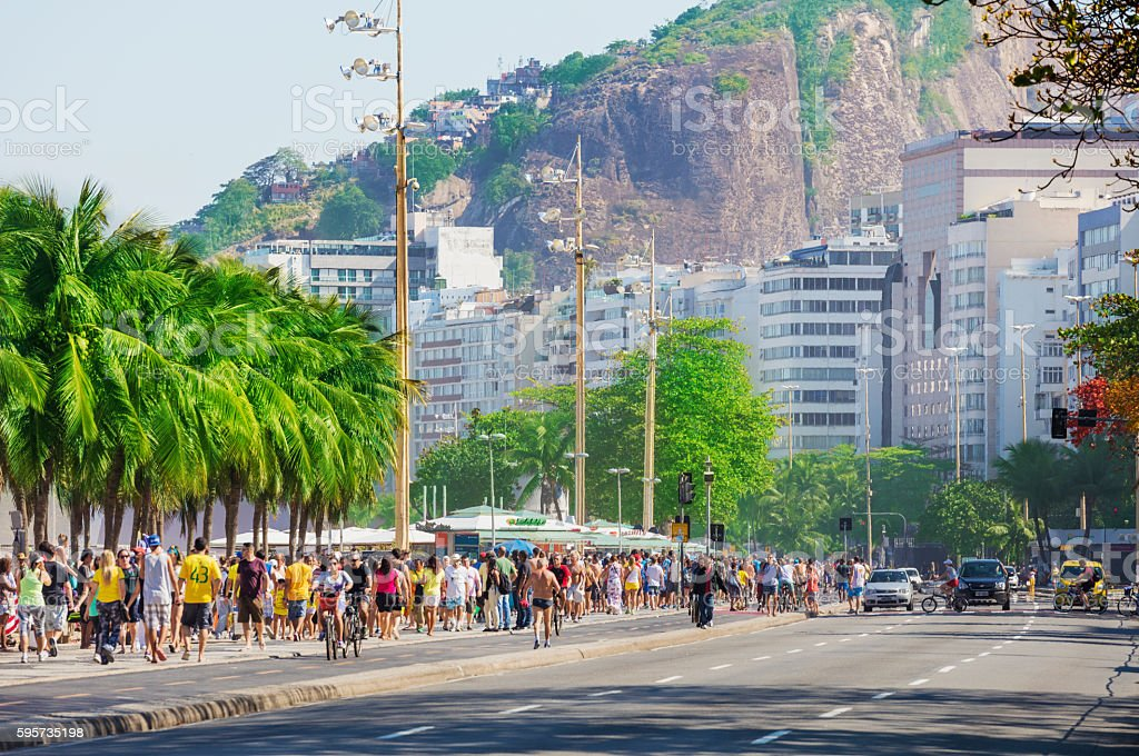 Copacabana Beach stock photo