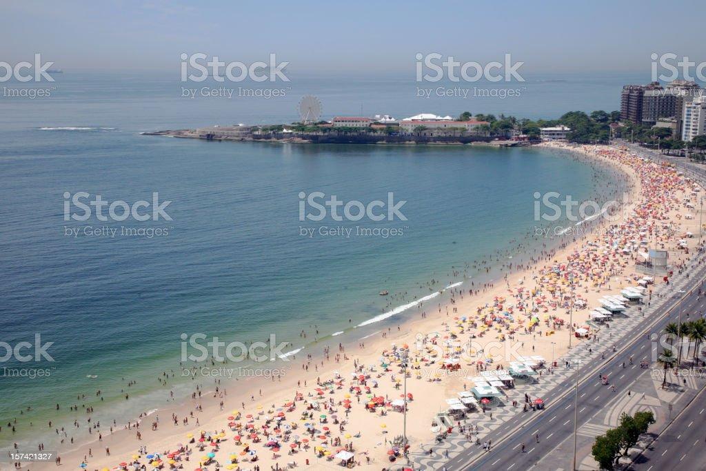 Copacabana Beach, Rio de Janeiro, Brazil royalty-free stock photo