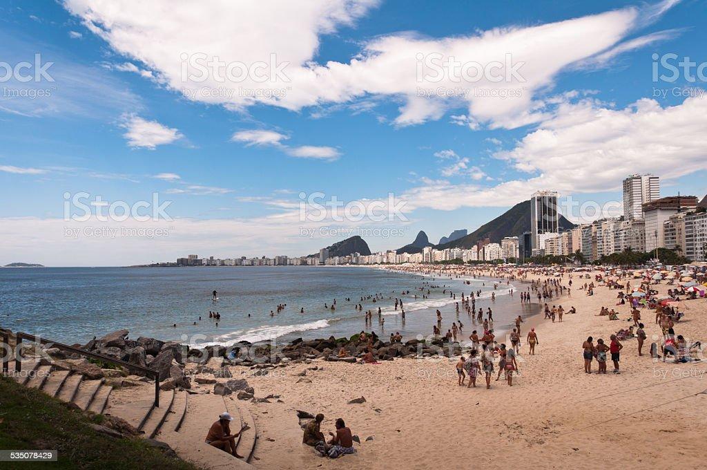 Copacabana Beach, Rio de Janeiro, Brazil stock photo