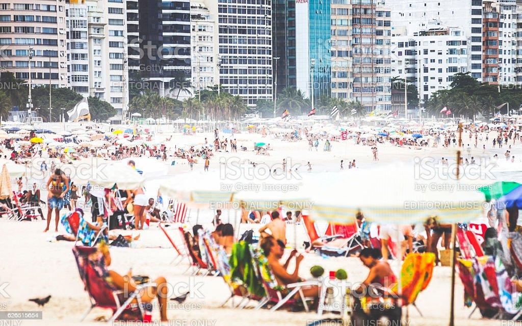 Copacabana Beach. Rio De Janeiro, Brazil. stock photo