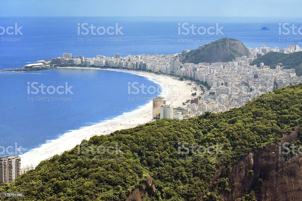 Copacabana Beach, Rio de Janeiro royalty-free stock photo