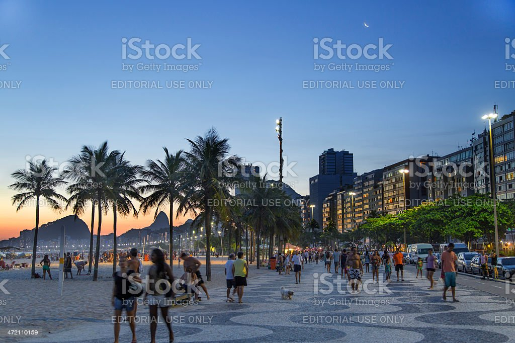 Copacabana Beach summer day afternoon stock photo