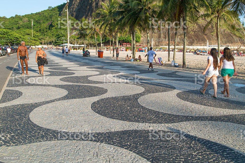 Copacabana Beach summer day stock photo