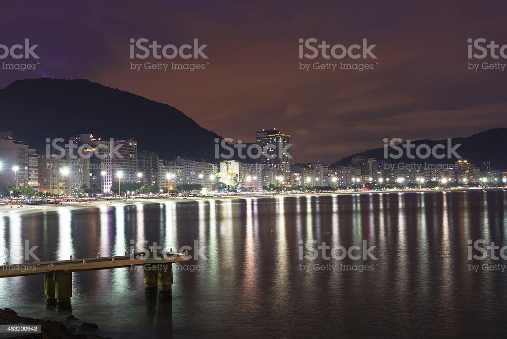 Copacabana in Rio de Janeiro royalty-free stock photo