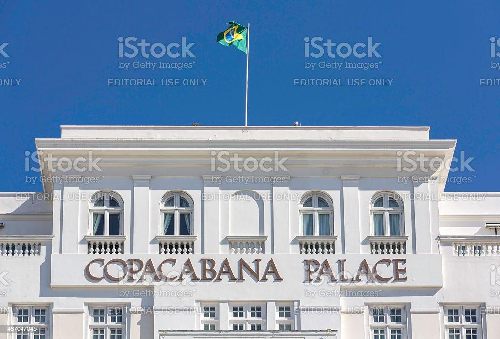 Copacabana Palace Hotel in Rio de Janeiro stock photo