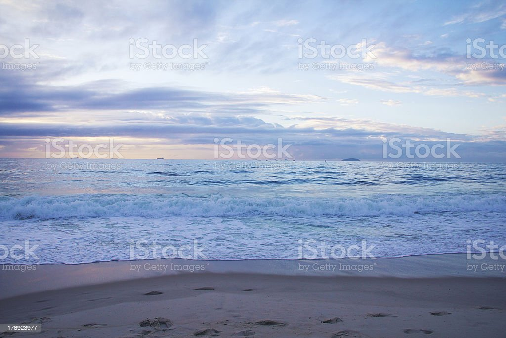 Copacabana Sunrise royalty-free stock photo