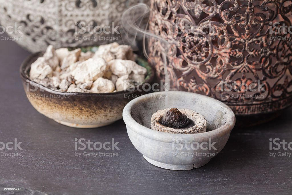 Copaifera officinalis resin stock photo