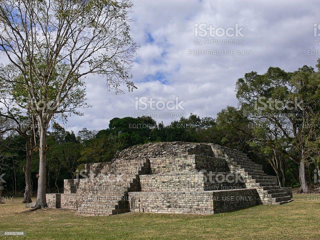 Copan Ruinas Maya Pyramid stock photo