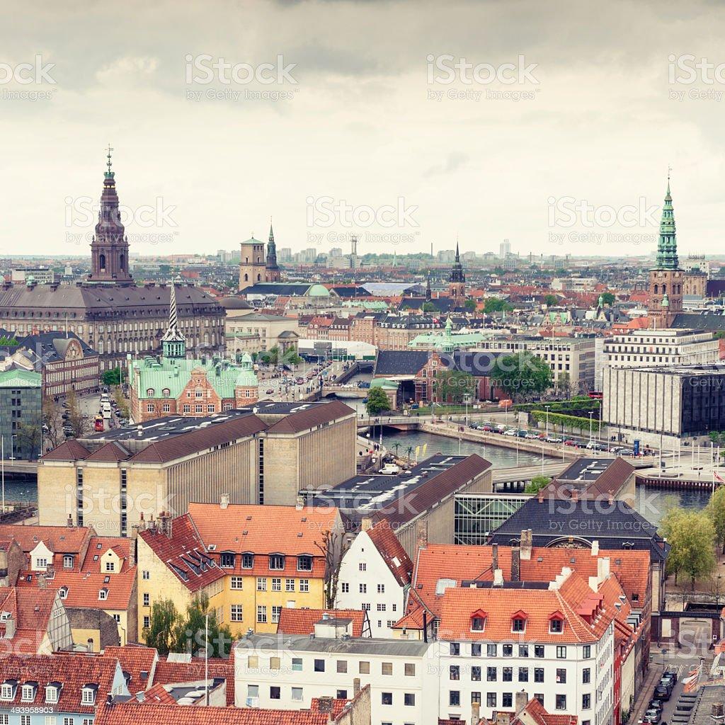 Copenhagen aerial view royalty-free stock photo