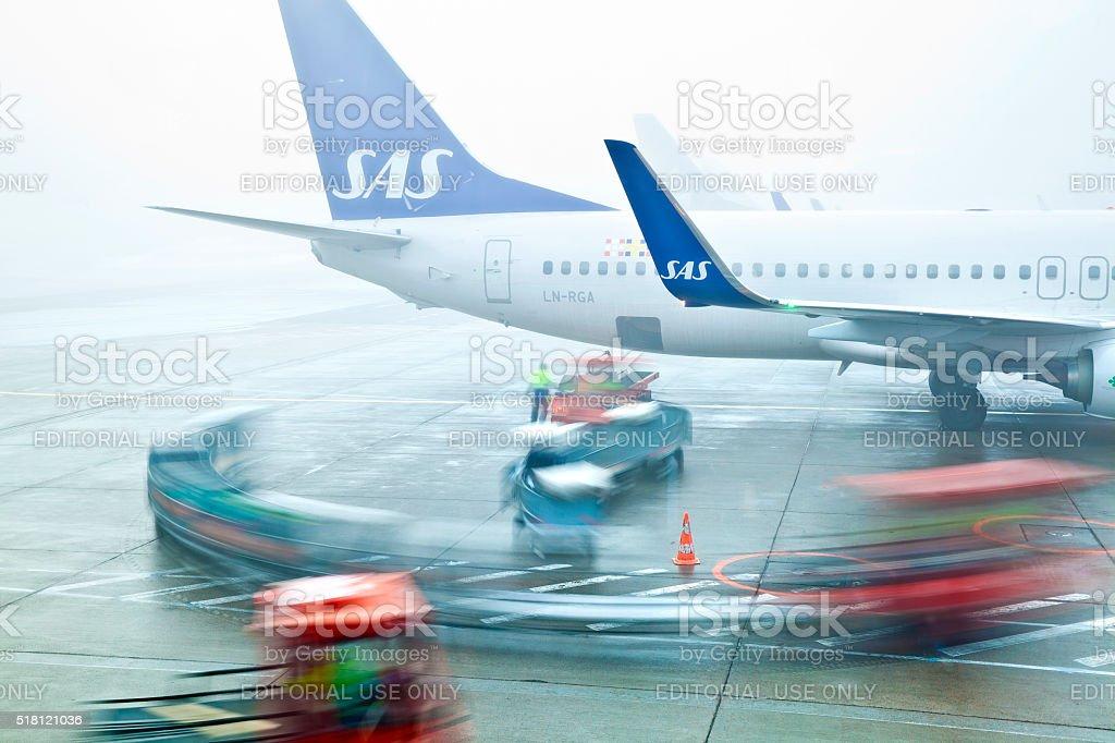 Copenhagen Airport stock photo