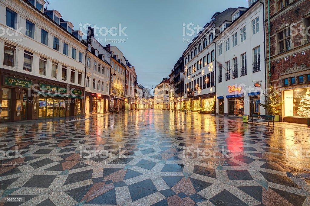 Copenhagen at Christmas stock photo